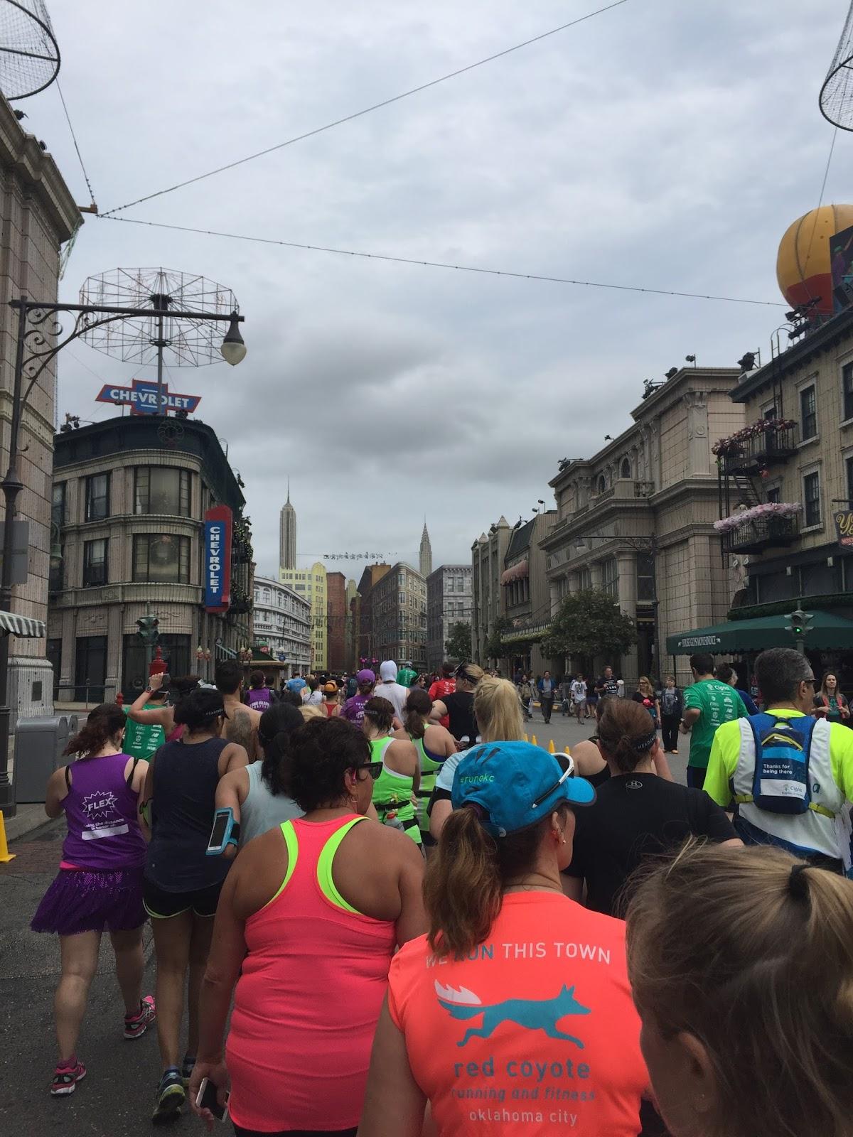 Dopey Challenge Mickey Marathon 2016 Running through the Osborne Lights