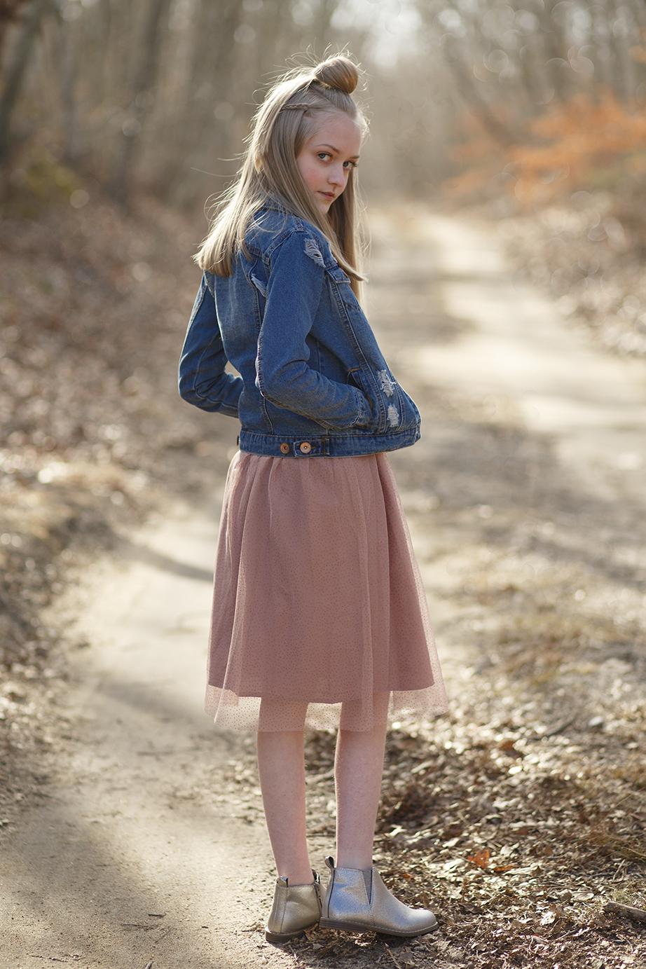 Girls GAP Dress, Destroyed Denim Jacket, GAP Ankle Boots