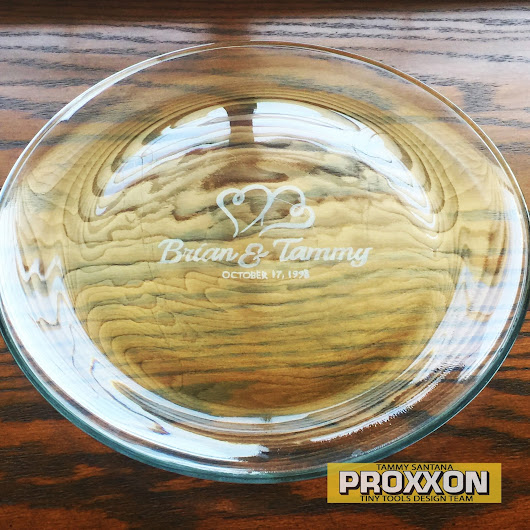 Engraved Wedding Gift Featuring The Proxxon Glass Engraving Kit