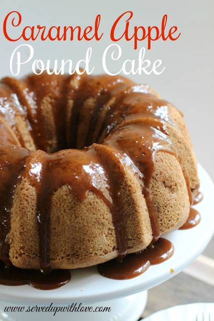Caramel Apple Pound Cake recipe from Served Up With Love