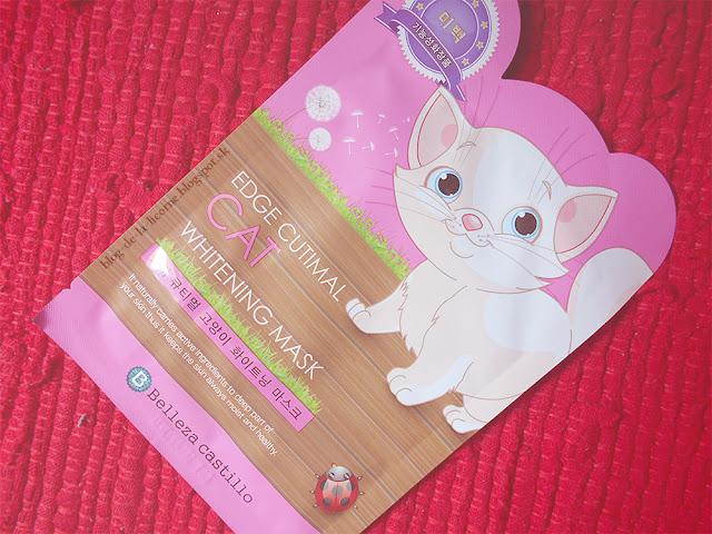 Belleza Castillo Edge Cutimal Cat pleťová maska s bieliacim účinkom