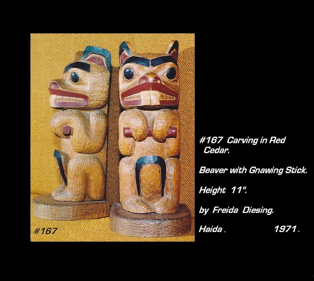 Beaver carving Freida Diesing Haida