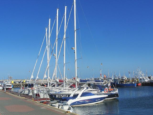 widok na port Władysławowo, Polskie Morze