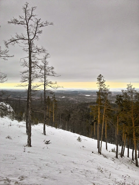 Вид со склона горы Егоза