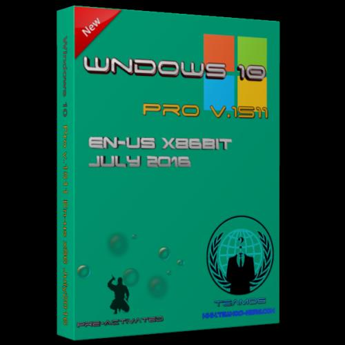 Windows 10 Pro v1511 es-X 86 de julio  2016 preactivado