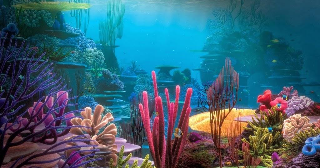 Mewarnai Gambar Pemandangan Bawah Laut Mewarnai Gambar