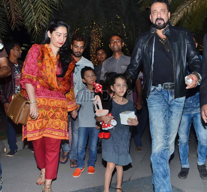 Bollywood Star Kids: Sanjay Dutt's family outing with His