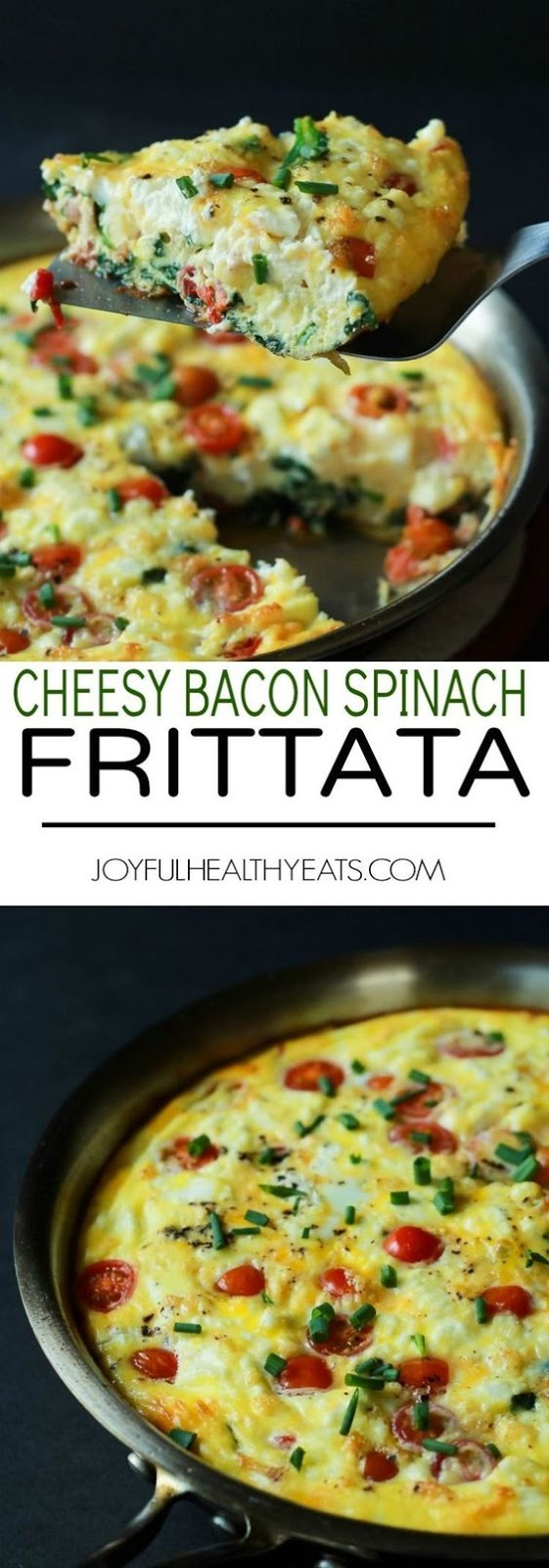 ROASTED RED PEPPER BACON GOAT CHEESE FRITTATA