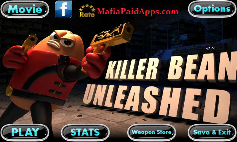 Killer Bean Unleashed 3 18 (Unlocked Weapons Ammo Lives) Apk