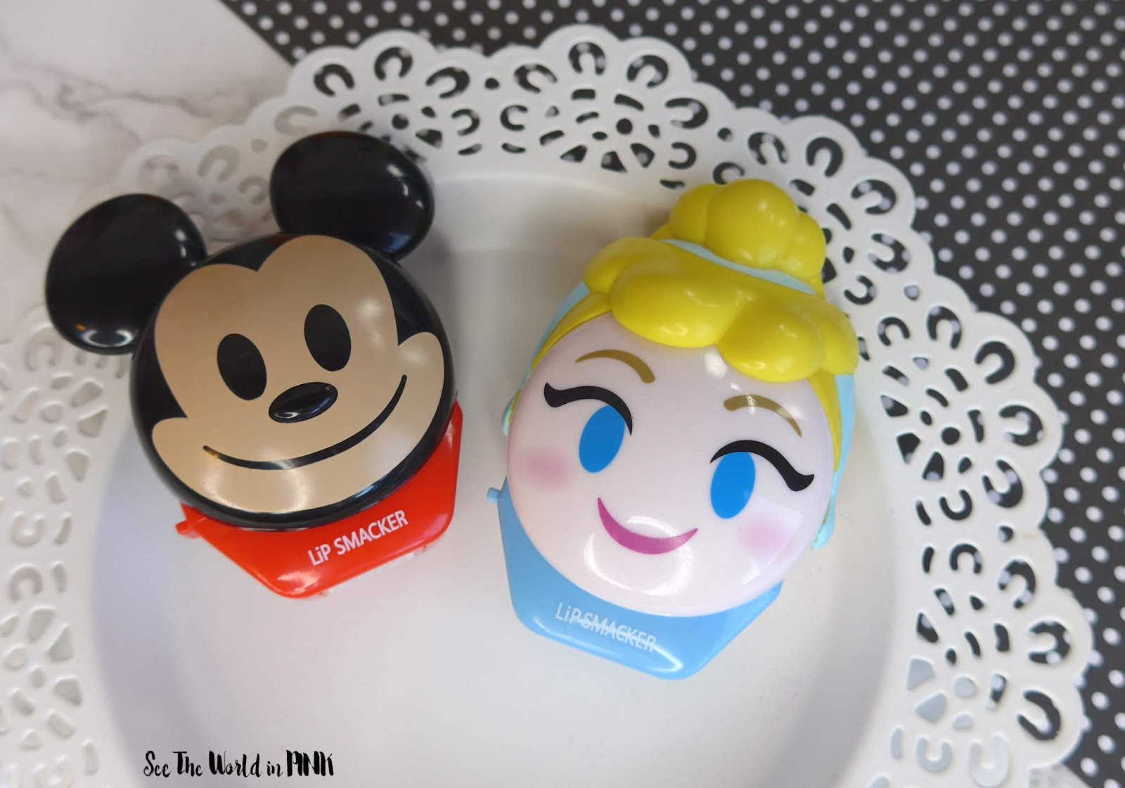 Lipsmacker Disney Emoji Lip Balms ~ Mickey & Cinderella