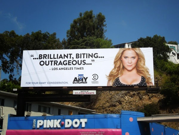 Inside Amy Schumer Emmy 2014 billboard
