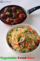 Fried Rice with Manchurain