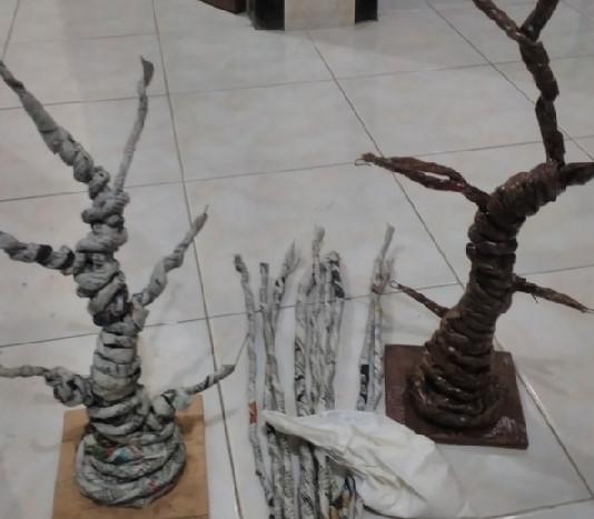 Cara Membuat Miniatur Pohon Plastik Hias