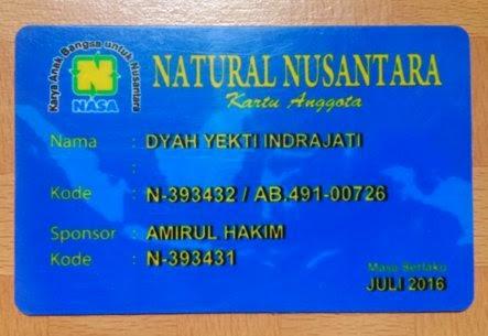 Kartu Identitas Resmi PT. Natural Nusantara