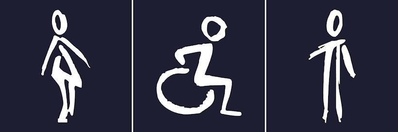 Toilettes Femmes, Personnes handicapées et Hommes