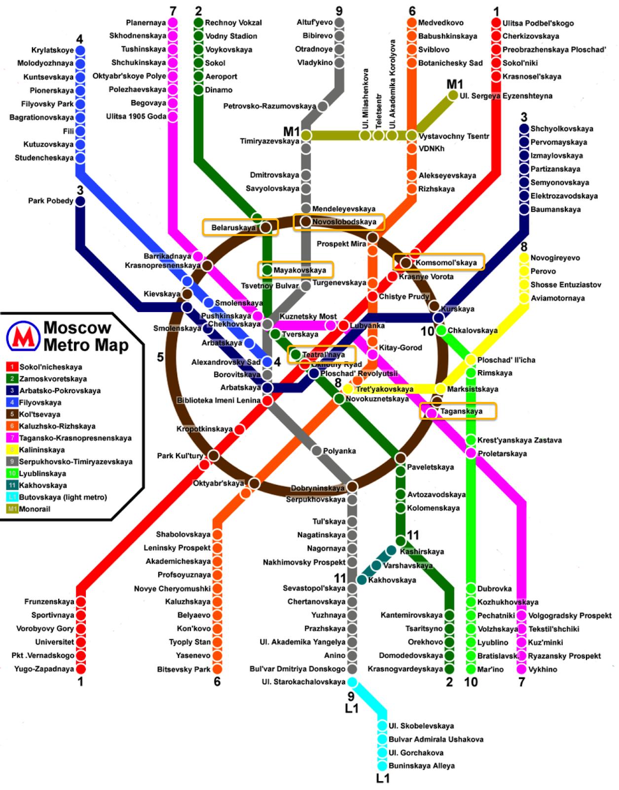 Metrô de Moscou em Inglês