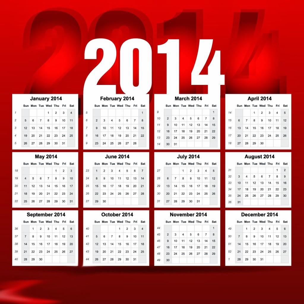 التقويم الميلادي 2014