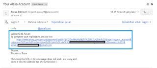 Alexa Verifikasi Email