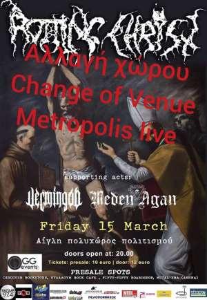 Rotting Christ - Meden Agan συναυλία Πάτρα