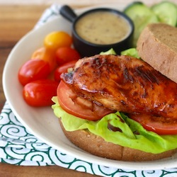 best recipe for a simple honey glaze chicken sandwich