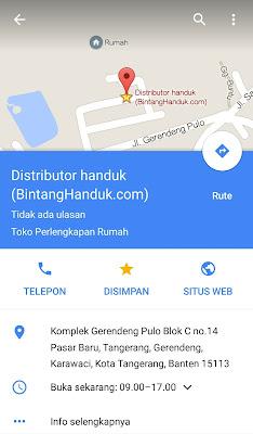 Peta Lokasi Unggul Jaya Handuk
