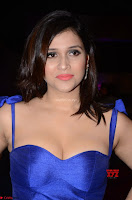 Mannara Chopra in Deep Neck Blue Gown at Zee Telugu Apsara Awards ~  Exclusive 006.jpg
