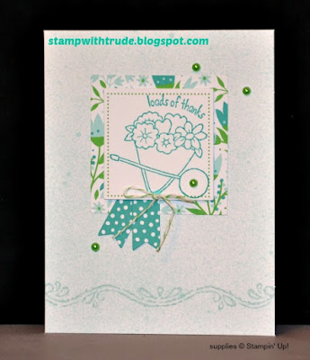 Paper Pumpkin, March 2016, Stampin Up, Stamp with Trude, Thank you card, You're Sublime, Chalk Lines