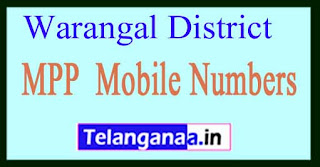 Telangana State MPP Mobile Numbers List Warangal District