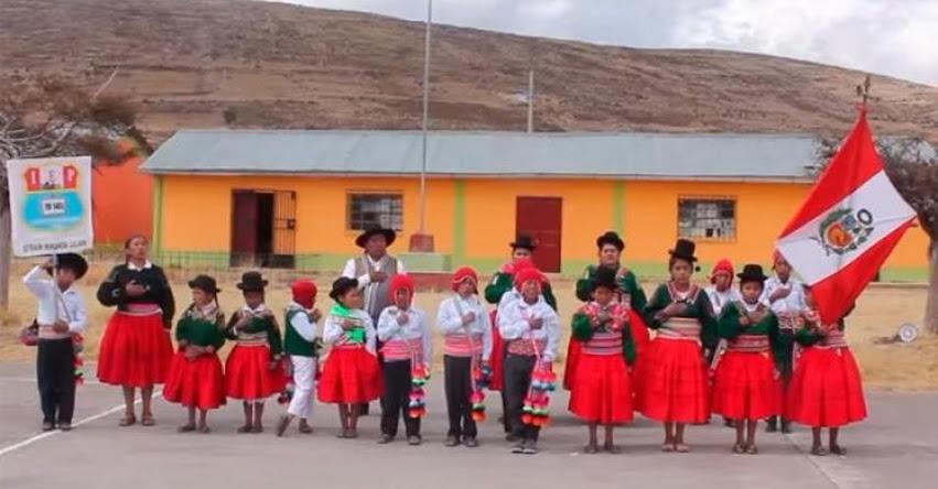 Escolares cantan el Himno Nacional del Perú en lenguas originarias [VIDEO]