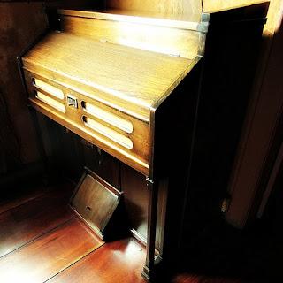 Antigo órgão no Museu Comunitário, em Hamburgo Velho
