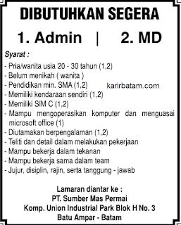 Lowongan Kerja PT. Sumber Mas Permai