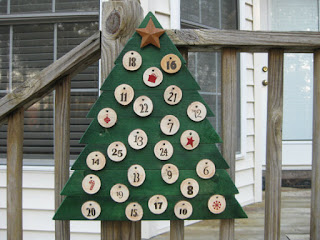 N and B Specialties Etsy outdoor advent calendar christmas tree