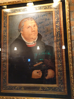 signed painting of Martin Luther at Threshold Lutheran Church, Toledo