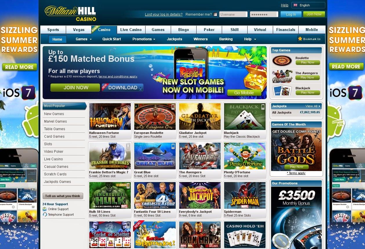 William hill roulette bonus code