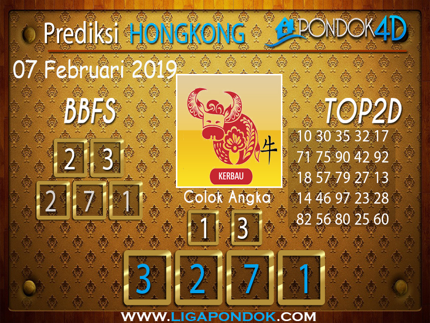 Prediksi Togel HONGKONG PONDOK4D 07 FEBRUARI 2019