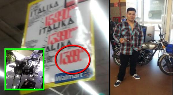 Waltmart vende por error motocicleta por 14 pesos y Profeco la obliga a respetar oferta