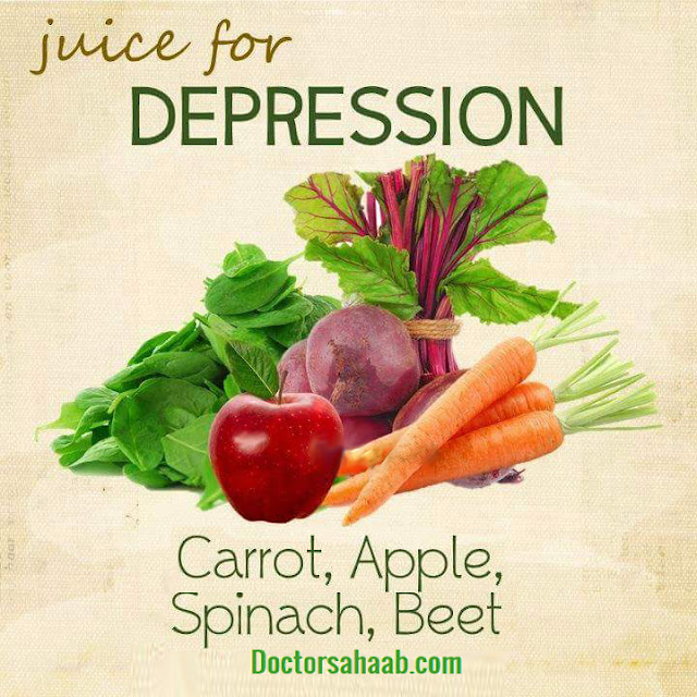 Juice for Depression (Carrot+Apple+Spinach+Beet)