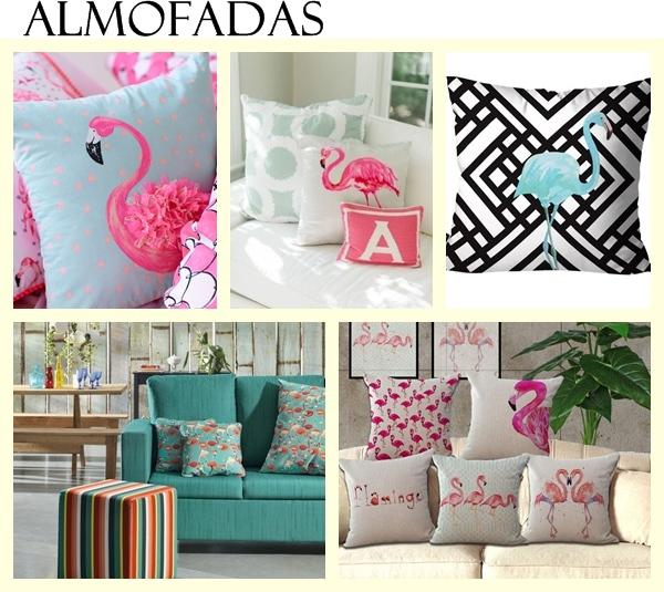 Decoração sala de estar flamingos