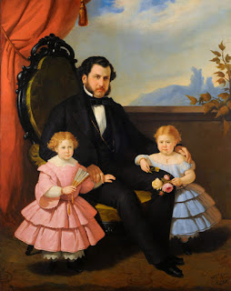 Verazzi's Portrait of a Gentleman and Girls, in the National Museum of Fine Arts in Buenos Aires