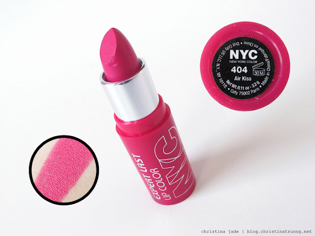 New York Color Expert Last Lipstick Swatches 404 Air Kiss