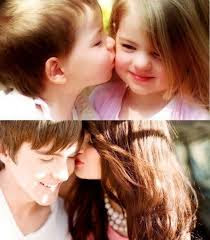 Top latest hd Baby Boy to Girl frist kiss images photos pic wallpaper free download 11