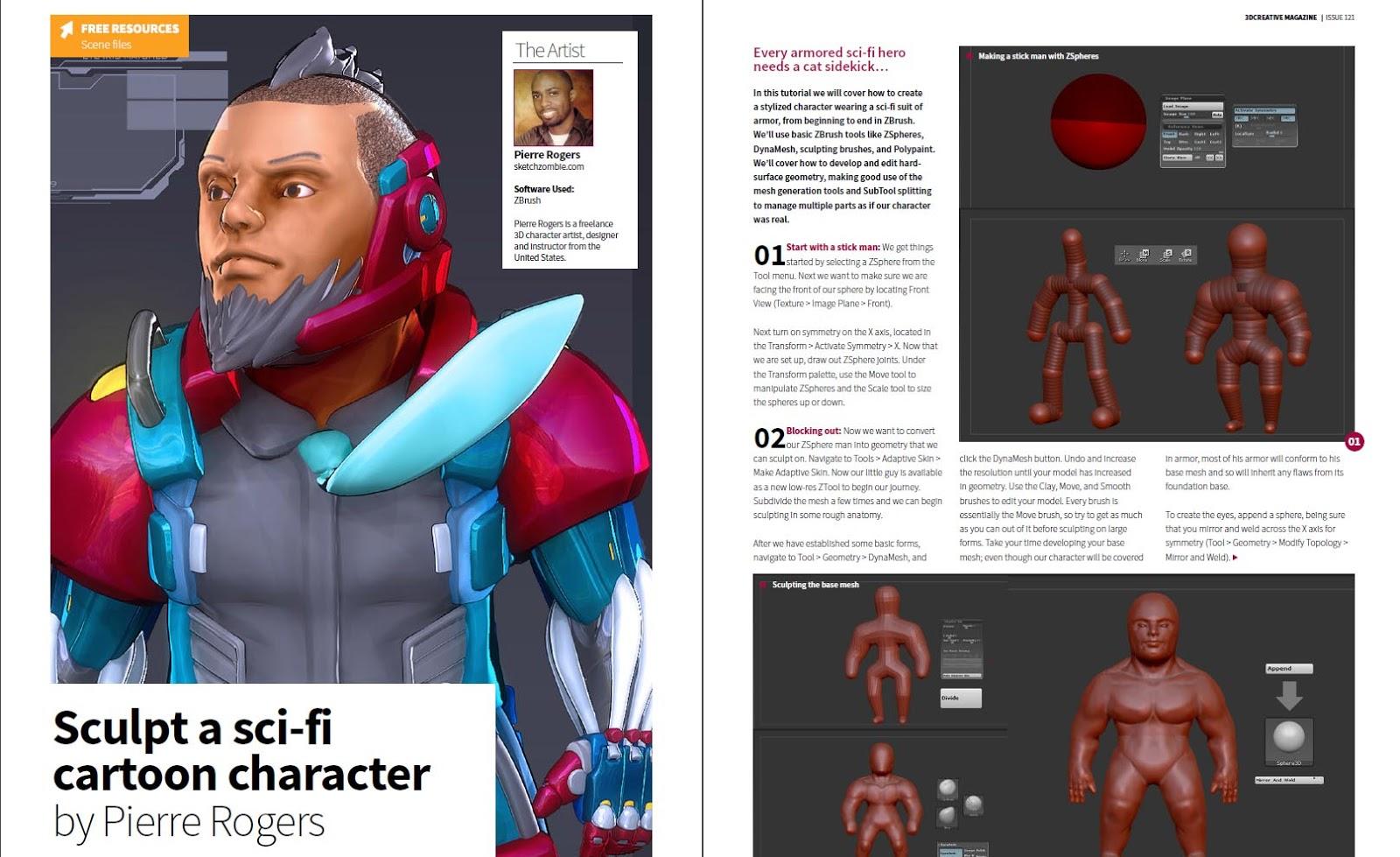 Sculpt a Sci-Fi cartoon character (3D Total) | Pierre Rogers