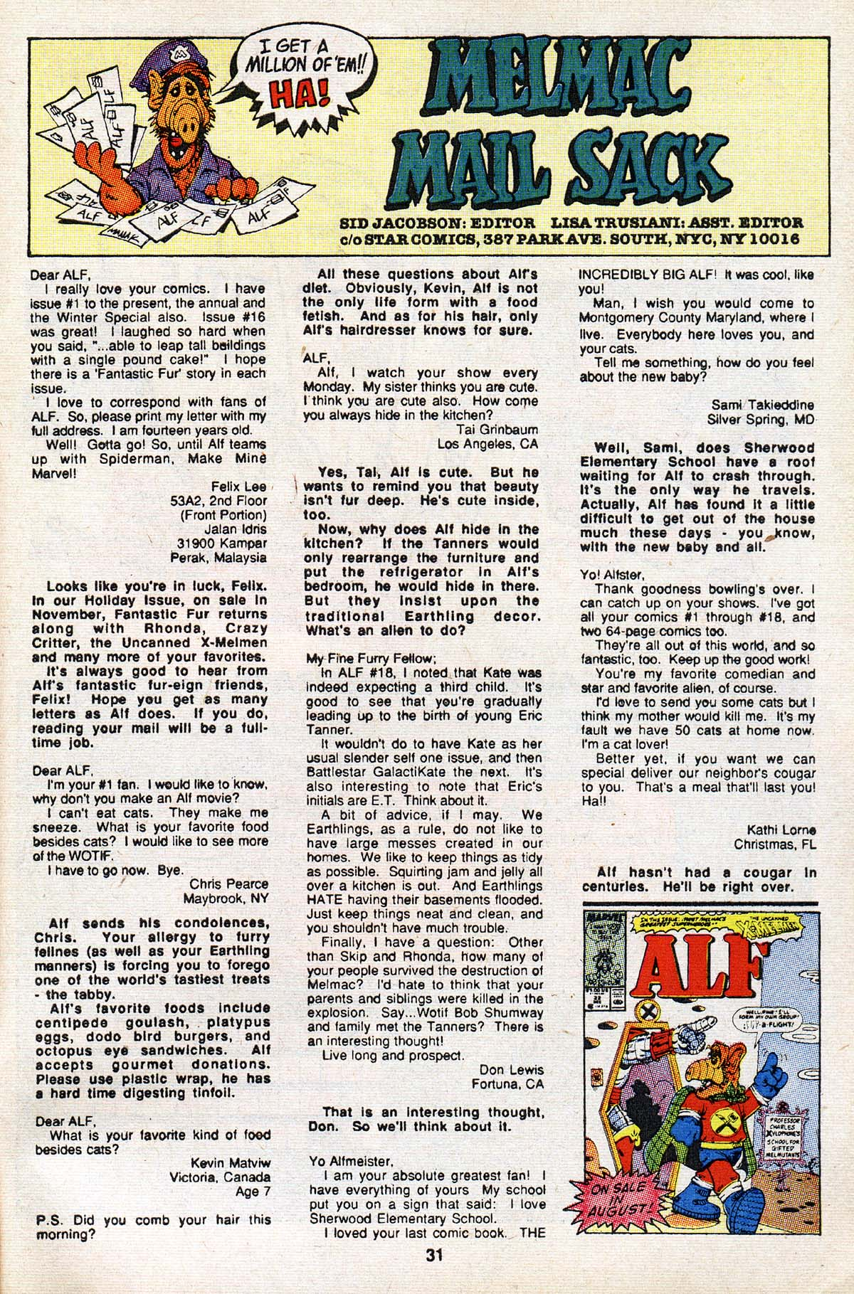 Read online ALF comic -  Issue #21 - 25