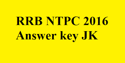 RRB NTPC Answer key JK