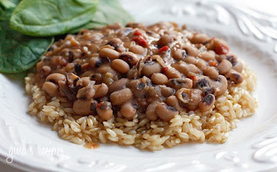Slow Cooker Black-eyed Peas and Ham