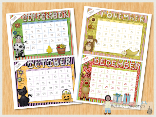 Printable mini CALENDAR 2019 - Monthly Calendar 2019 for desk or wall - DIY - gift idea - Instant download