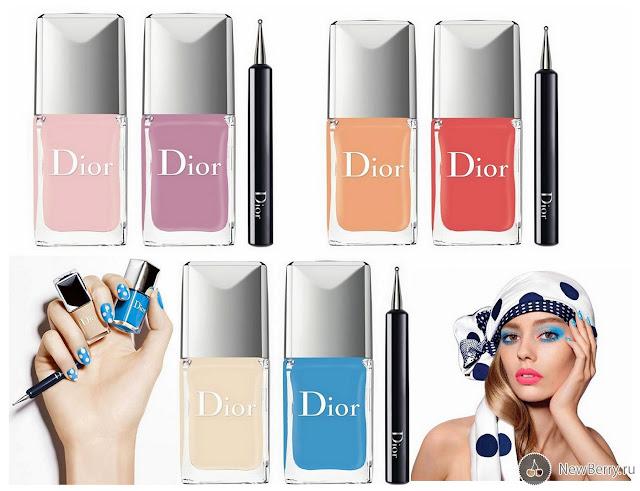 Dior Milky Dots лето 2016 лаки для ногтей