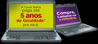 promoção faculdade Casas Bahia