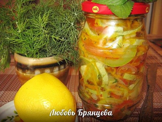 салат из сырых кабачков рецепт