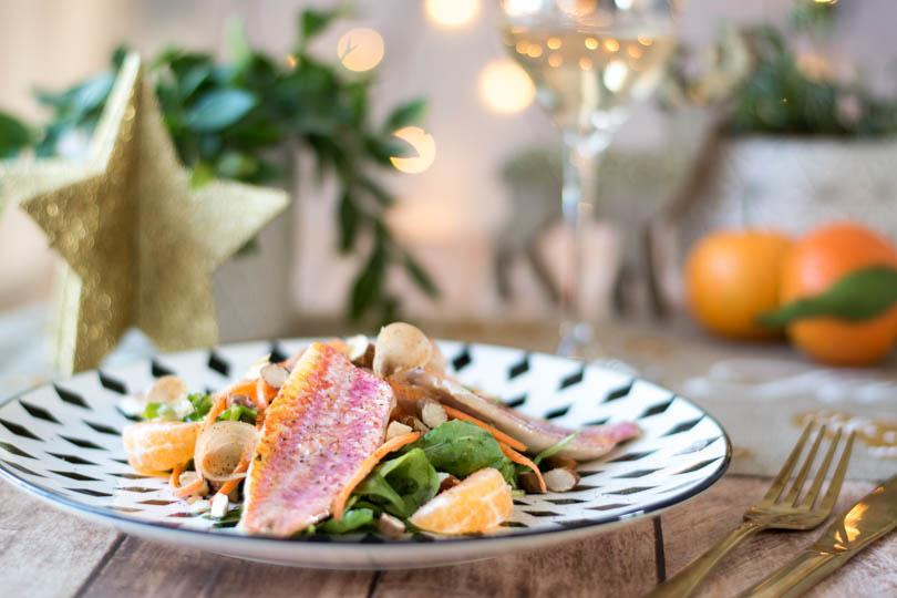 recette Salade de rougets aux agrumes